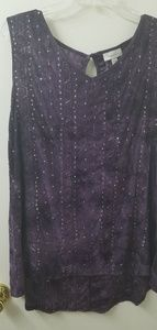 Purple tank with sequins from Dress Barn